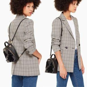 Kate Spade Cameron Flock Roses Binx Mini Backpack